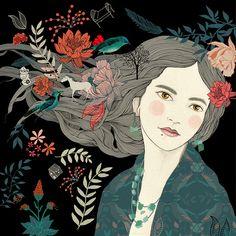 Lady Desidia's CD cover design for singer Marta Gómez