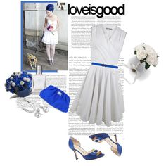 LOVE Blue, so chic with the white. (created by fado30 on Polyvore)