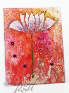 "Paper Crafter Crayon ""painted"" Lotus Flower designed for Memory Craft, by Lisa. Crayon Painting, Crayon Art, Encaustic Painting, Art Journal Pages, Art Journals, Collage Art, Collages, Beautiful Monday, Art Journal Tutorial"