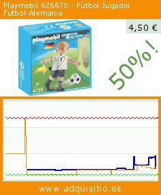Playmobil 626670 - Fútbol Jugador Fútbol-Alemania (Juguete). Baja 50%! Precio actual 4,50 €, el precio anterior fue de 8,99 €. https://www.adquisitio.es/playmobil/626670-f%C3%BAtbol-jugador