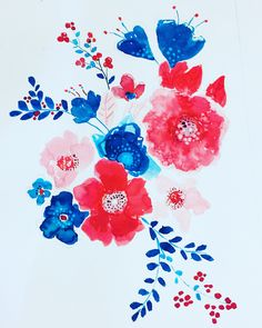 A piece of  my floral ink painting .
