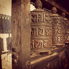 Prayer wheels in the afternoon sun. #Himalayanjourney #Nepal #wanderlust #Buddhist