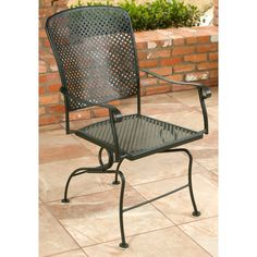 Outdoor Woodard Fullerton Coil Spring Dining Chair - 2Z0066