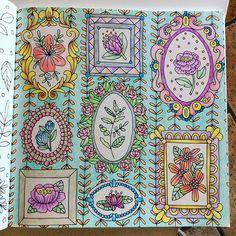 """Instagram media sandrine_jouve - Et voila le troisième coloriage issu de """"Sagolikt"""" de Emelie Lidehäll Öberg, toujours avec les crayons de couleur de chez Carrefour. Toujours un vrai plaisir à faire. Le prochain est en route.... #sagolikt #sagoliktenmålarbok #lidehalloberg @lidehalloberg #creativelycoloring #colorindolivrostop #moncoloriagepouradultes"""