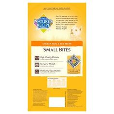 Natures Recipe Chicken Meal & Rice Small Bites - 4.5 lb