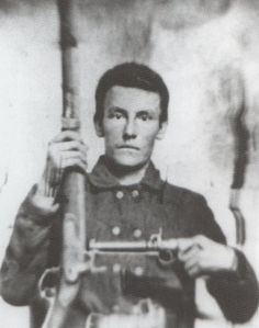 Pleasant M. Wasson, 16th Tennessee Infantry, Company F. Wounded severely and captured at Perryville. He was sent to Camp Douglas and subsequently exchanged. Had his right leg amputated after 'having my right thigh shivered with a minnie ball'. He reported back to command by 2/63.Then he was furloughed on 4/29/63 after being admitted to hospital in Petersburg VA.   Took the Oath in latter part of 1864 'through fear of being molested after being disabled'.