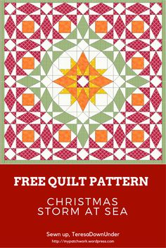 Christmas storm at sea quilt - free pattern download from Teresa Down Under
