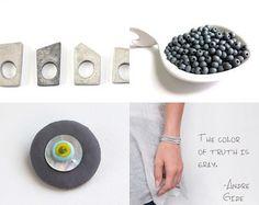 July 2016 - 3  by mira (pinki) krispil on Etsy featuring concrete jewelry - geometric minimalist concrete ring by shooohsJewelry
