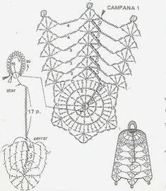 Wełnomaniaczka: Szydełko - wzory Crochet Diagram, Crochet Motif, Crochet Designs, Crochet Doilies, Crochet Angels, Crochet Stars, Crochet Snowflakes, Crochet Lamp, Thread Crochet