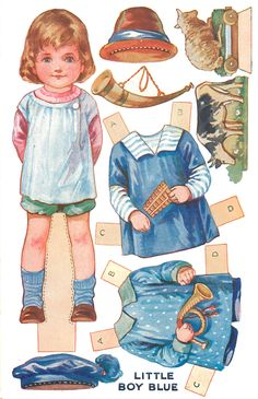 Mother Goose Quiltie Pattern #17 — Little Boy Blue