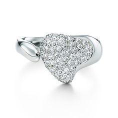 Tiffany  Co Elsa Peretti Full Heart Ring