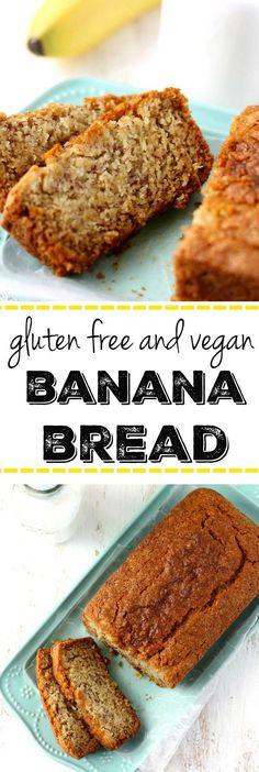 Food - Rezept für ein Bananen Brot - glutenfrei und vegan.   This gluten free and vegan banana bread is moist, delicious, and perfect for a snack or breakfast!