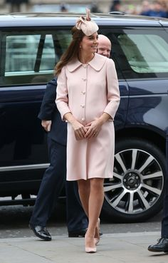 Pin for Later: Kate Middleton Steps Out in a Favorite Maternity Look For a Special Day in the UK