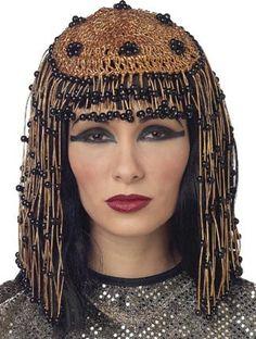 Amazon.com: Adult Deluxe Cleopatra Egyptian Costume Headpiece: Clothing