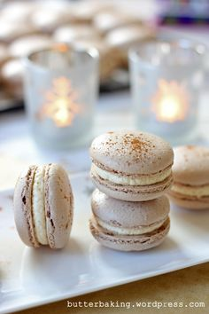 gingerbread macarons by butter