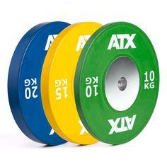 Original ATX® - Athletic Training Xtreme - HQ Full  Rubber Bumper Plates - farbig ATX® bietet erstklassiges, getestetes und bewährtes Equipment für den professionellen Einsatz Die Bumper-Plates werden höchsten Ansprüchen gerecht. Exakt ausbalancierte Hantelscheiben mit geringster Abweichung. http://www.megafitness-shop.info/Kraftsport/Hanteln-Gewichte/Hantelscheiben/50-mm/ATX�-HQ-Rubber-Bumper-Plates-COLOR-Hantelscheiben-farbig--3395.html