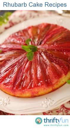 This page contains rhubarb cake recipes. Not only is rhubarb delicious in strawberry and rhubarb pie, but you can use this versatile plant in many cake recipes.