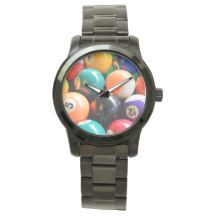 8_Ball,_Large_Unisex_Black_Bracelet_Watch. Wristwatches