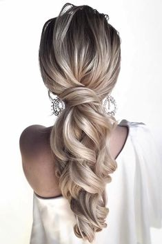 30 Cute And Easy Wedding Hairstyles ❤ easy wedding hairstyles elegant ponytail. - - 30 Cute And Easy Wedding Hairstyles ❤ easy wedding hairstyles elegant ponytail on long blonde hair hair_. Wedding Hairstyles For Long Hair, Braided Hairstyles, Bridesmaid Hairstyles, Prom Hairstyles, Easy Elegant Hairstyles, School Hairstyles, Bridesmaid Hair Ponytail, Choppy Hairstyles, Hairstyles Videos