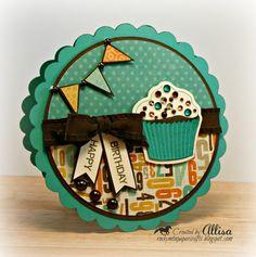Rocky Mountain Paper Crafts: Cricut Artiste Cupcake Birthday Card