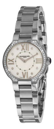 Raymond Weil Women's 5927-STS-00995 Noemia Mother-Of-Pearl Diamond Dial Watch Raymond Weil. $1720.94. Stainless-steel round case. Quartz movement. Water-resistant to 165 feet (50 M). Mother-Of-Pearl dial. Diamond hour markers