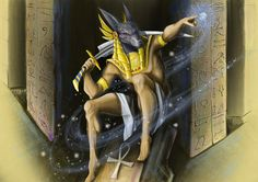 anubis sketch by chebot.deviantart.com on @DeviantArt