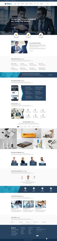 Reflex is a unique PSD #template designed in #Photoshop with a modern look for #corporate #business website. Download Now!
