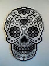 """Billedresultat for """"sugar skull perler bead patterns"""" Melty Bead Patterns, Pearler Bead Patterns, Perler Patterns, Beading Patterns, Perler Bead Designs, Perler Bead Templates, Perler Beads, Fuse Beads, Adornos Halloween"""