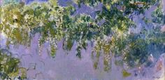 Claude Monet , Glycines ,100 x 300cm   ( 1917 - 1920  )  oil on canvas