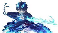 Rin Okumura es el hijo de satan su madre era humana el heredo las llamas azules de su padre el se convierte en exorcista para vengar a su padre adoptivo
