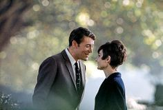 """Peter O'Toole with Audrey Hepburn during filming of """"How to Steal a Million"""", photo by Douglas Kirkland, Paris, 1966"""