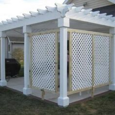 There are lots of pergola designs for you to choose from. First of all you have to decide where you are going to have your pergola and how much shade you want. Pergola Patio, Patio Privacy, Small Pergola, Pergola Swing, Pergola Attached To House, Deck With Pergola, Cheap Pergola, Wooden Pergola, Pergola Shade
