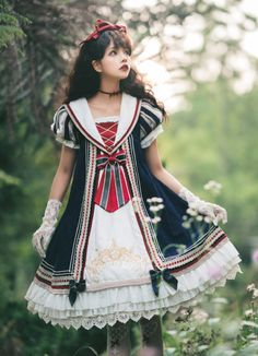 Spring Dresses You Will Feel Adorable Wearing - Oscilling Maxi Outfits, Cosplay Outfits, Cosplay Girls, Maxi Dresses, Harajuku Fashion, Lolita Fashion, Cute Fashion, Asian Fashion, Emo Fashion