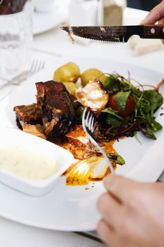 A classic Swedish dinner plate with at Grinda Wärdshus Photo by Björn Tesch