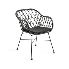 Tuinfauteuil in gevlochten hars rubis zwart La Redoute Interieurs | La Redoute Outdoor Garden Furniture, Outdoor Chairs, Outdoor Decor, Relax, Color Negra, Things To Buy, Outdoor Gardens, Home Decor, Products
