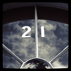 Magical reflection on glass: a 21 in the clouds Number 21, Magic Number, Lucky Number, My Calendar, Twenty One, The Twenties, Signage, My House, Reflection