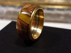 """Ring Gold mit Banksiazapfen """"Gelb"""""""