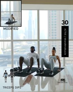 Hiit Workout At Home, Gym Workout Videos, Gym Workout For Beginners, At Home Workouts, Sweat Fitness, Fitness Workout For Women, Planet Fitness Workout, Fitness Workouts, Physical Exercise