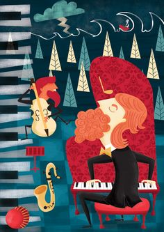 It´s all about music Illustration by carocelis.com