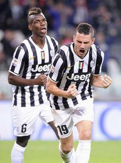 L'esultanza di Bonucci dopo il goal del definitivo 4 a 0 contro il Catania. #juventus