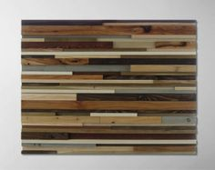 Rustic Wood Sculpture Piano Keys 12x48 by ModernRusticArt