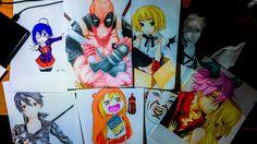 My Anime Comic Drawings of 2015 Comic Drawing, Anime Comics, Art Drawings, Superhero, Fictional Characters, Fantasy Characters, Art Paintings