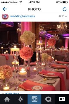 Coral Wedding Reception