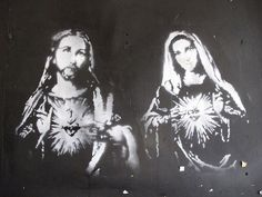 jesus and mary stencil by duncan