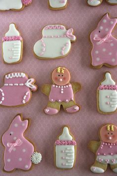 Xocolat and co: Decorated cookies Baby Shower