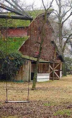 old barn & swing