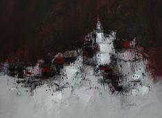 "James SOMERVILLE Village Church - Spain   acrylic, 20""x25"" /sm"
