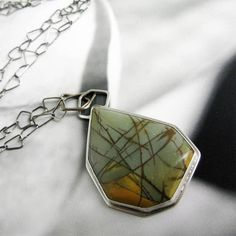 Cherry Creek Jasper Necklace in Sterling by catherinechandler