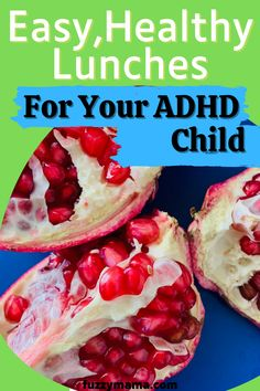 Healthy Lunches | This mom of two ADHD teens has some great ideas about packing a healthy and budget friendly school lunch for your ADHD kiddos. Fruit And Veg, Fruits And Veggies, Lunch Box Recipes, Whole Food Recipes, Peanut Butter Sandwich, Healthy Bars, Healthy School Lunches, Processed Sugar, Food Out