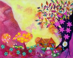 The Tree of Life 20 x 16 Original mixed media by JessieLilac